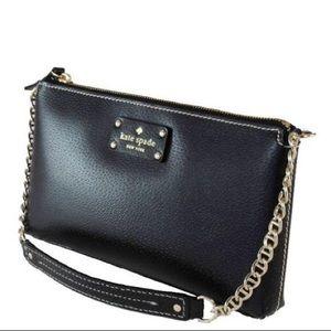Authentic Kate Spade Wellesley Byrd Clutch Bag Blk